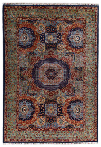Handgeknüpfter Shawl Teppich aus Ghazni Wolle - besonders fein - Legacy - 186 x 270cm