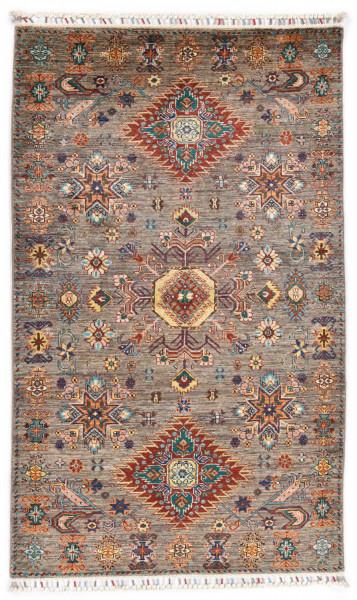 Handgeknüpfter Shawl Teppich aus Ghazni Wolle - Pir Mahal - 118x202cm