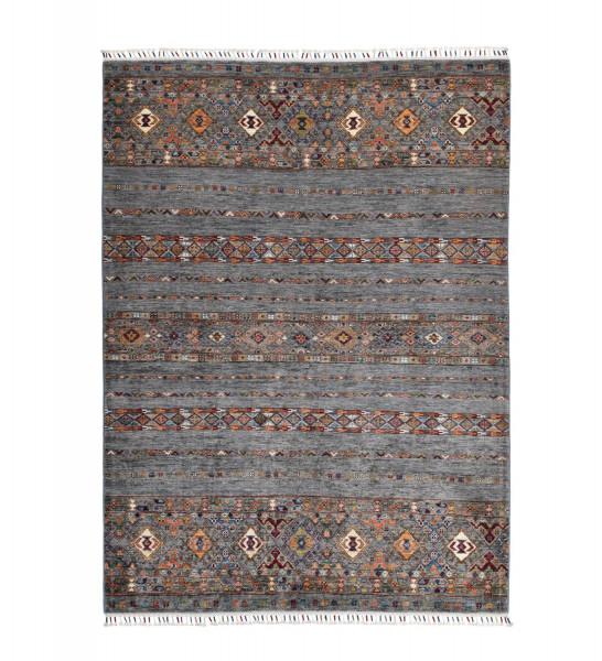 Handgeknüpfter Shawl Teppich aus Ghazni Wolle - Pir Mahal - 153x201 cm