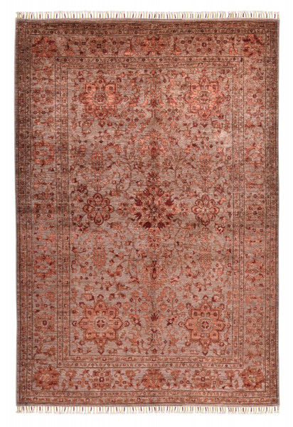 Handgeknüpfter Shawl Teppich aus Ghazni Wolle - Pir Mahal - 169x246cm