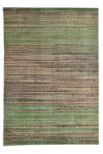 Handgeknüpfter Designerteppich Wolle/Nessel - FINE NATURE - 160 x 233cm