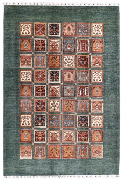Handgeknüpfter Shawl Teppich aus Ghazni Wolle - Pir Mahal - 217 x 316 cm