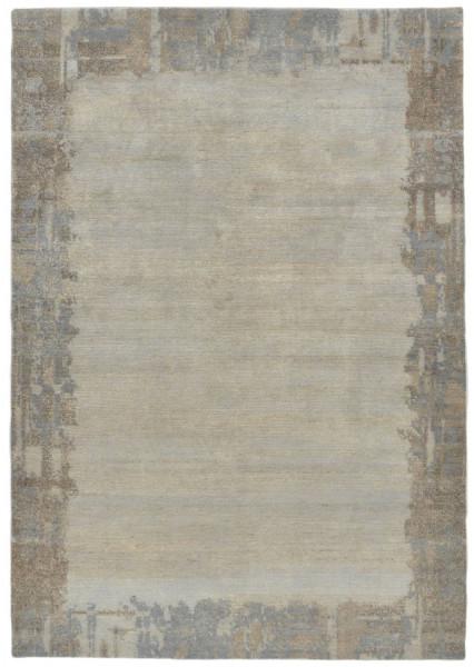 Handgeknüpfter Designerteppich Wolle/Nessel - FINE NATURE - 160 x 234 cm