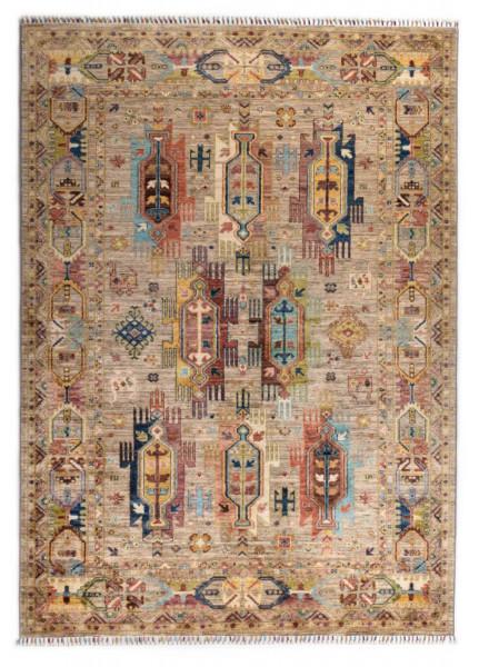 Handgeknüpfter Shawl Teppich aus Ghazni Wolle - Pir Mahal - 174x241cm