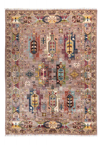 Handgeknüpfter Shawl Teppich aus Ghazni Wolle - Pir Mahal - 179x246cm