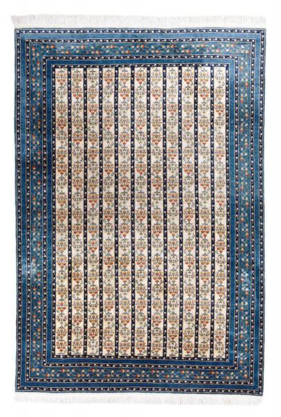 Handgeknüpfter Kayseri Teppich- Seide auf Seide -149x218cm