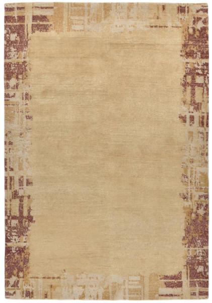 Handgeknüpfter Designerteppich Wolle/Nessel - FINE NATURE - 159 x 232 cm