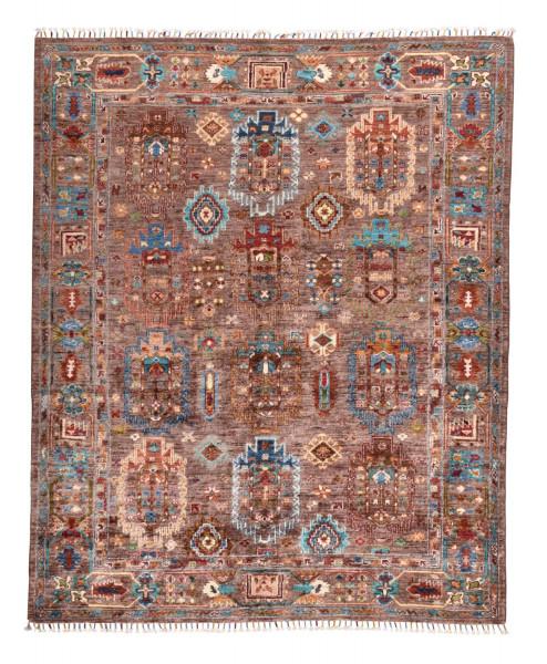 Handgeknüpfter Shawl Teppich aus Ghazni Wolle - Pir Mahal - 159x190cm