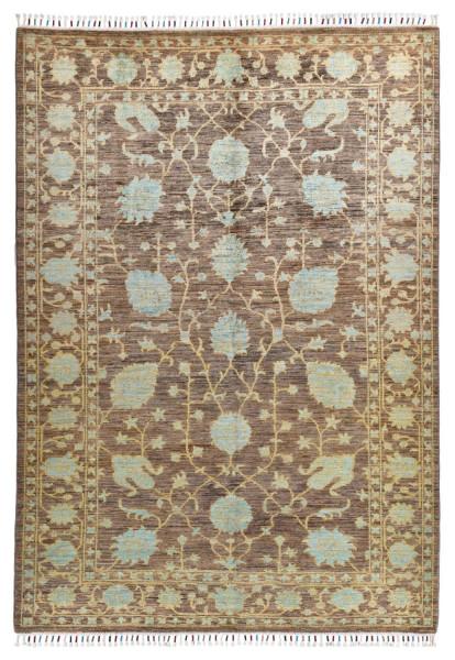 Handgeknüpfter Shawl Teppich aus Ghazni Wolle - Pir Mahal - 167x243cm