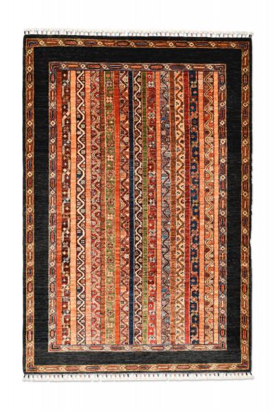 Handgeknüpfter Shawl Teppich aus Ghazni Wolle - Pir Mahal - 128x187 cm