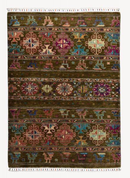 Handgeknüpfter Shawl Teppich aus Ghazni Wolle - Pir Mahal - 124x169 cm