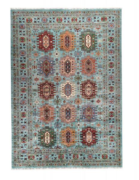 Handgeknüpfter Shawl Teppich aus Ghazni Wolle - Pir Mahal - 208x303cm