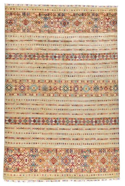 Handgeknüpfter Shawl Teppich aus Ghazni Wolle - Pir Mahal - 181x255cm