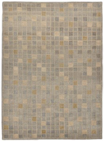 Handgeknüpfter Designerteppich Wolle/Nessel - FINE NATURE - 161 x 232 cm