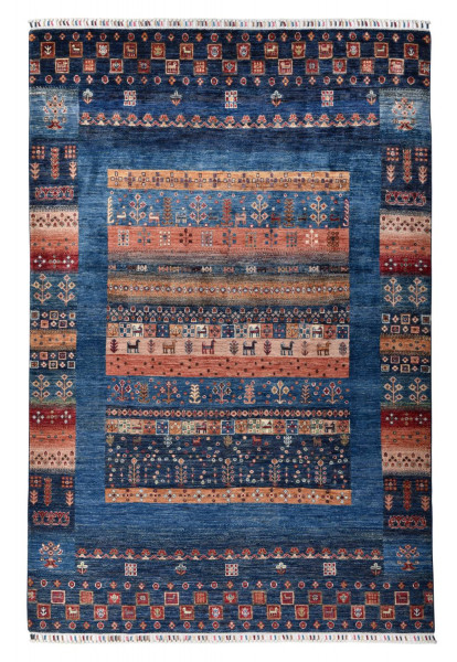 Handgeknüpfter Shawl Teppich aus Ghazni Wolle - Pir Mahal - 167x250 cm