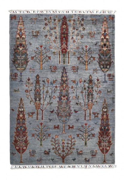 Handgeknüpfter Shawl Teppich aus Ghazni Wolle - Pir Mahal - 99x150 cm
