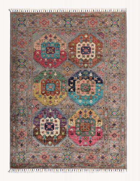 Handgeknüpfter Shawl Teppich aus Ghazni Wolle - Pir Mahal - 106x143 cm