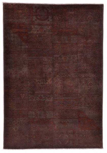 Handgeknüpfter Wollteppich - Vintage Patch - 501 - 170x240cm