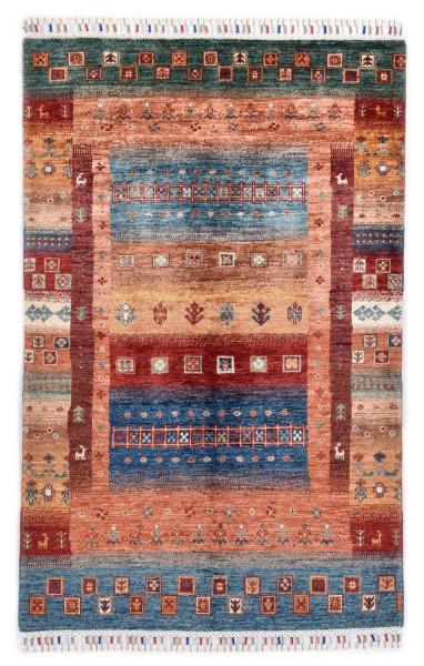 Handgeknüpfter Shawl Teppich aus Ghazni Wolle - Pir Mahal - 103 x 162 cm