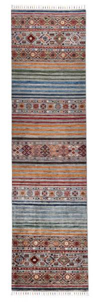 Handgeknüpfter Shawl Teppich aus Ghazni Wolle - Pir Mahal - 85x312cm
