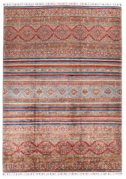Handgeknüpfter Shawl Teppich aus Ghazni Wolle - Pir Mahal - 174 x 235 cm