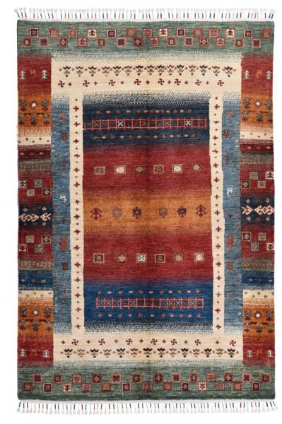 Handgeknüpfter Shawl Teppich aus Ghazni Wolle - Pir Mahal - 126x178cm
