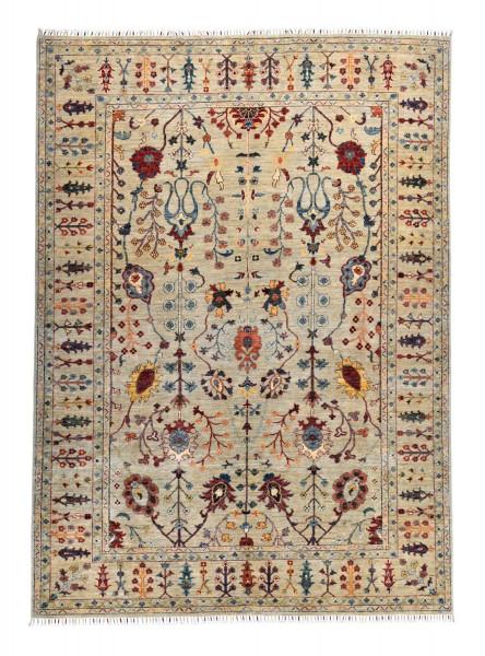 Handgeknüpfter Shawl Teppich aus Ghazni Wolle - Pir Mahal - 207x293cm