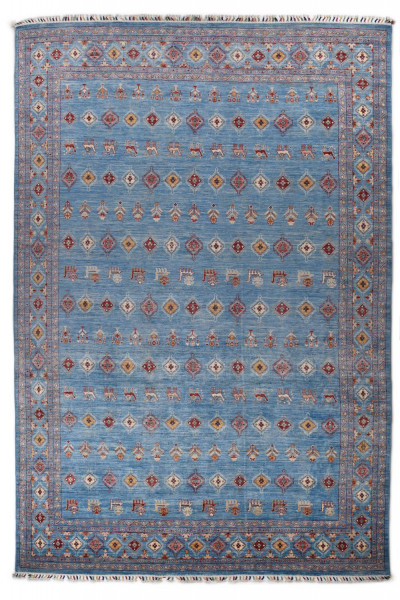 Handgeknüpfter Shawl Teppich aus Ghazni Wolle - Pir Mahal - 270x394cm