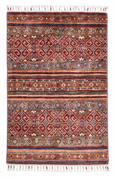 Handgeknüpfter Shawl Teppich aus Ghazni Wolle - Pir Mahal - 80 x 123 cm