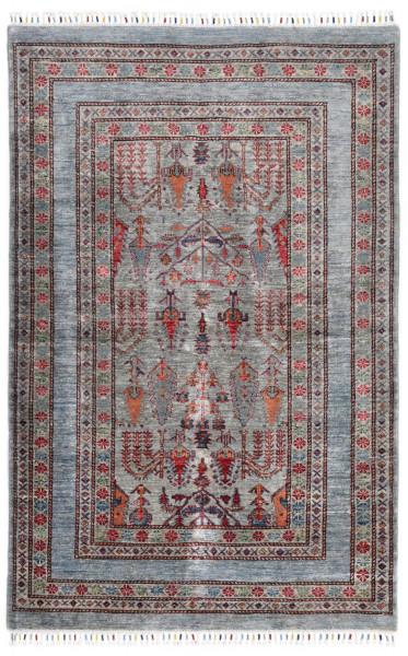 Handgeknüpfter Shawl Teppich aus Ghazni Wolle - Pir Mahal - 123 x 186 cm