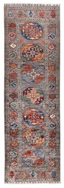 Handgeknüpfter Shawl Teppich aus Ghazni Wolle - Pir Mahal - 86x266cm