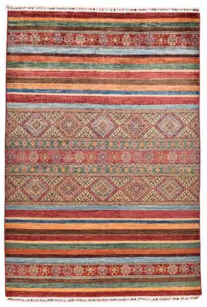 Handgeknüpfter Shawl Teppich aus Ghazni Wolle - Pir Mahal - 157x211cm