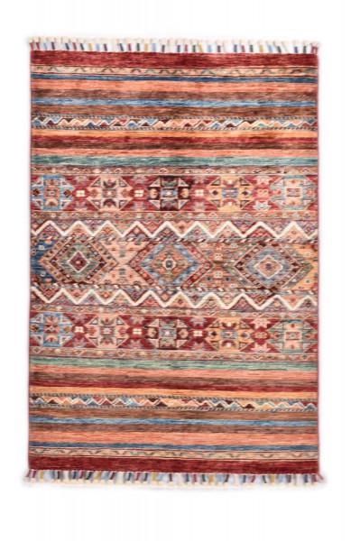 Handgeknüpfter Shawl Teppich aus Ghazni Wolle - Pir Mahal - 83 x 124 cm