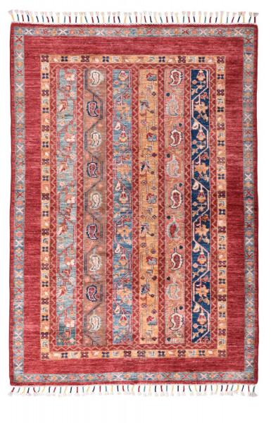 Handgeknüpfter Shawl Teppich aus Ghazni Wolle - Pir Mahal - 101x149cm