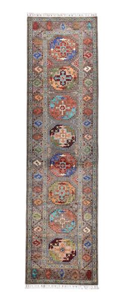 Handgeknüpfter Shawl Teppich aus Ghazni Wolle - Pir Mahal - 87x321cm