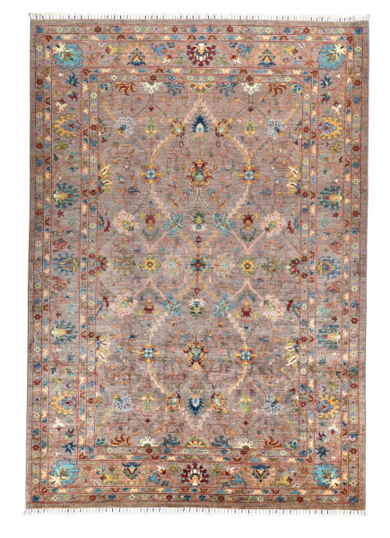 Handgeknüpfter Shawl Teppich aus Ghazni Wolle - Pir Mahal - 208x296cm