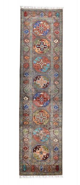 Handgeknüpfter Shawl Teppich aus Ghazni Wolle - Pir Mahal - 84x322cm