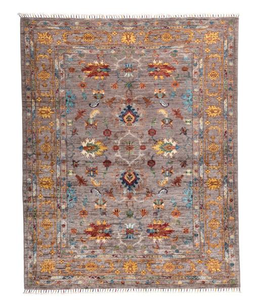 Handgeknüpfter Shawl Teppich aus Ghazni Wolle - Pir Mahal - 156x198cm