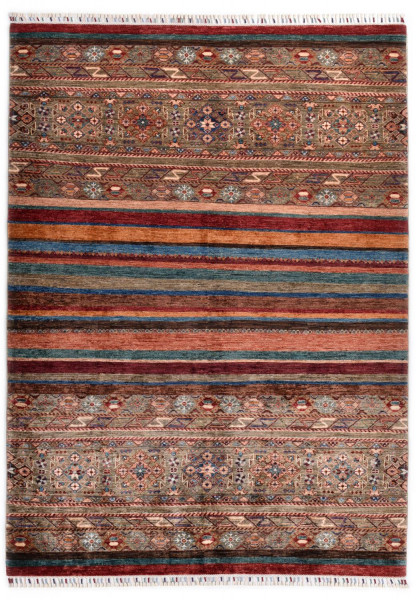 Handgeknüpfter Shawl Teppich aus Ghazni Wolle - Pir Mahal - 174x240cm