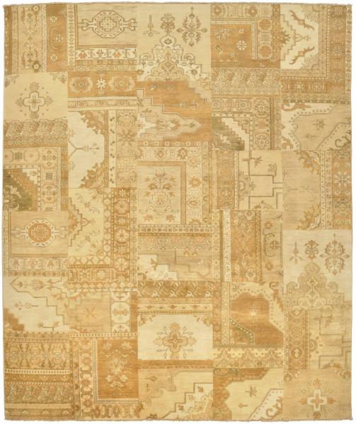 Handgeknüpfter Wollteppich - Vintage Patch 504 - 250x300cm