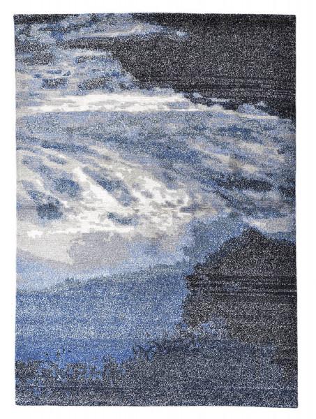Handgeknüpfter Designerteppich Wolle/Nessel - FINE NATURE - 140x200cm