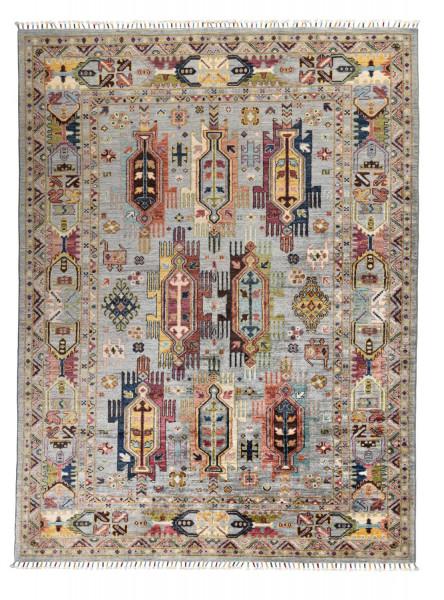 Handgeknüpfter Shawl Teppich aus Ghazni Wolle - Pir Mahal - 154x209cm