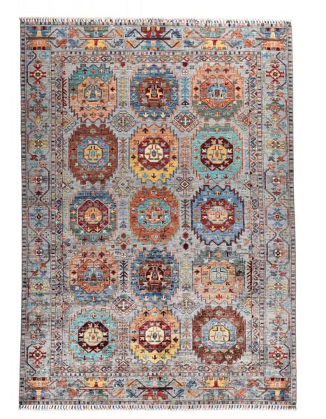 Handgeknüpfter Shawl Teppich aus Ghazni Wolle - Pir Mahal - 180x246cm