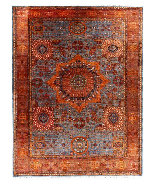 Handgeknüpfter Shawl Teppich aus Ghazni Wolle - besonders fein - Legacy -Legacy - 404 x 510 cm