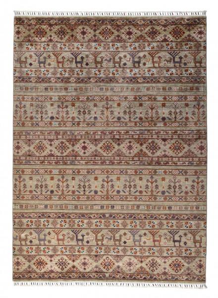 Handgeknüpfter Shawl Teppich aus Ghazni Wolle - Pir Mahal - 158x220 cm