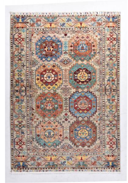 Handgeknüpfter Shawl Teppich aus Ghazni Wolle - Pir Mahal - 126x246cm