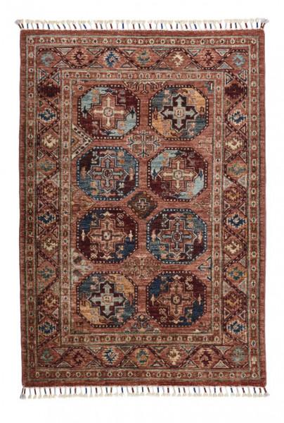 Handgeknüpfter Shawl Teppich aus Ghazni Wolle - Pir Mahal - 88x124 cm
