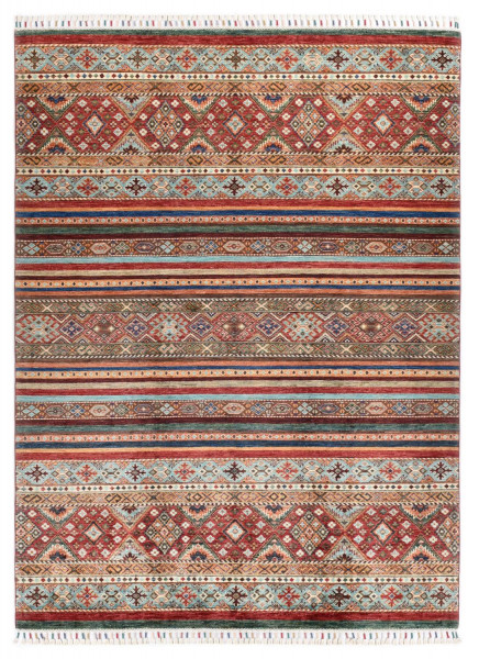 Handgeknüpfter Shawl Teppich aus Ghazni Wolle - Pir Mahal - 170 x 233 cm