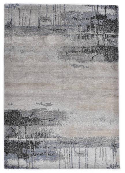 Handgeknüpfter Designerteppich Wolle/Nessel - FINE NATURE - 170 x 237cm