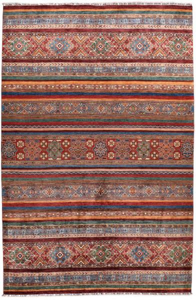 Handgeknüpfter Shawl Teppich aus Ghazni Wolle - Pir Mahal - 269x368cm